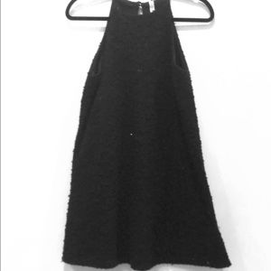Little Black Sequin/Fuzzy Dress Sz S